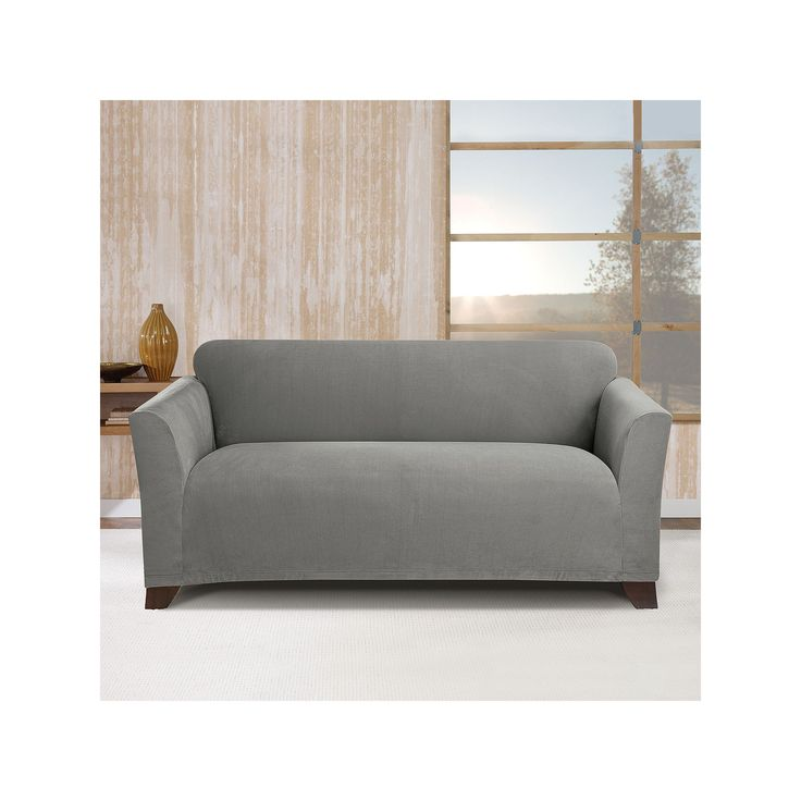 Sure Fit Stretch Morgan Loveseat Slipcover, Grey