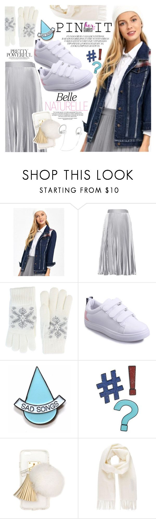 """Pins With Personality"" by vanjazivadinovic ❤ liked on Polyvore featuring Christopher Kane, Fits, Stay Home Club, Design Lab, Ashlyn'd, Vivienne Westwood, Beats by Dr. Dre, pins, polyvoreeditorial and gearbest"
