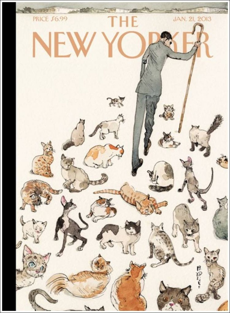 "Cats in Illustration: ""The New Yorker,"" January 21, 2013. ""Herding Cats."""