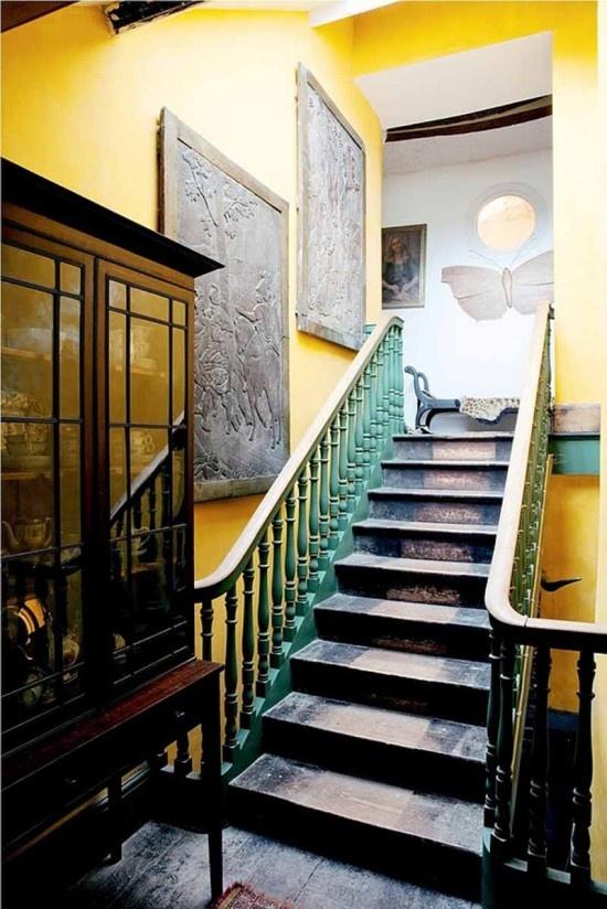 Irish country house | Beautiful staircase design