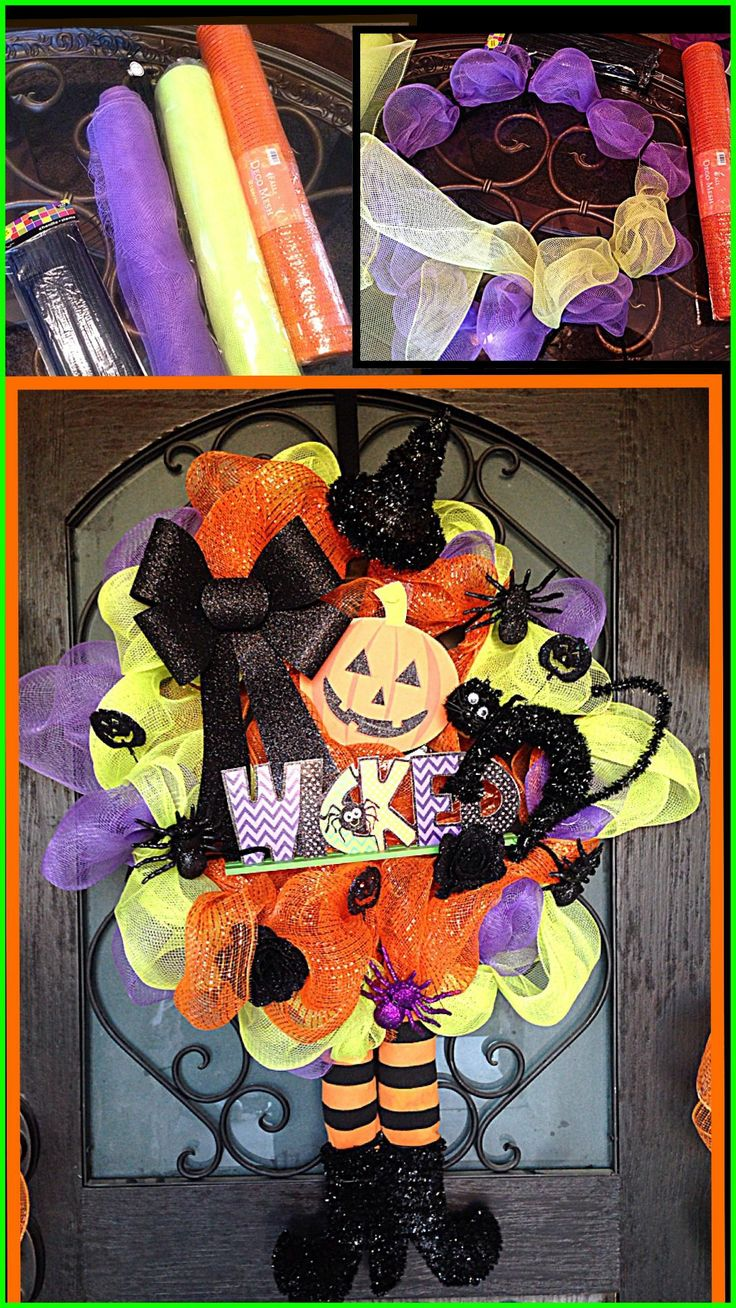 18 best Wreaths images on Pinterest Door wreaths, Wreath ideas and - Hobby Lobby Halloween Decorations