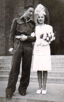Wartime played a big role in the changing customs1940s. rationing and shorter engagements, everything was simpler – cakes contained more spice to disguise the lack of sugar. dresses had shorter sleeves due to the lack of material or were even made from parachute silk. Veils were small ornamental, attached to a hat or comb. wedding in 1945.