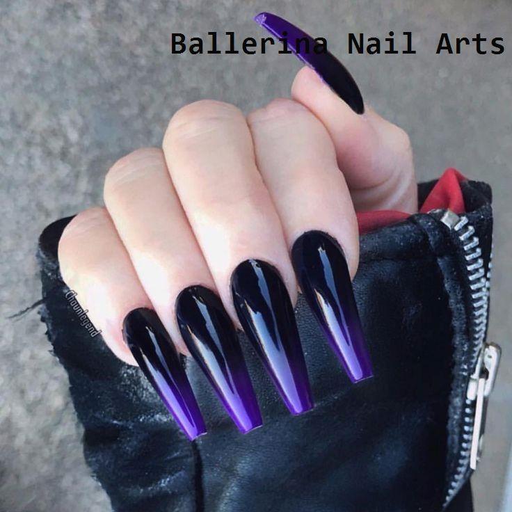 Trending Ballerina Nails Designs Nailart Purple Acrylic Nails Purple Ombre Nails Ombre Acrylic Nails