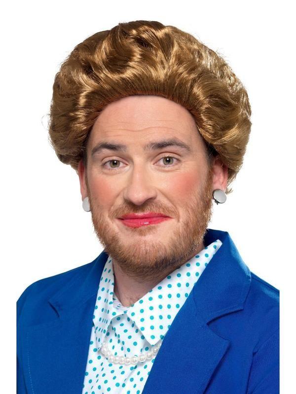 Short Brown Man// Guy Wig Mens 70s Fancy Dress Costume