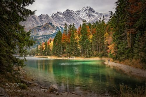 Zugspitze 2 by Gerald_H  autumn lake mountain See Herbst Berg Bavaria Bayern Zugspitze 2 Gerald_H