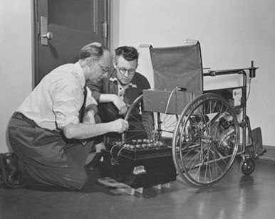 electric wheelchair in 1952 george klein invented the. Black Bedroom Furniture Sets. Home Design Ideas