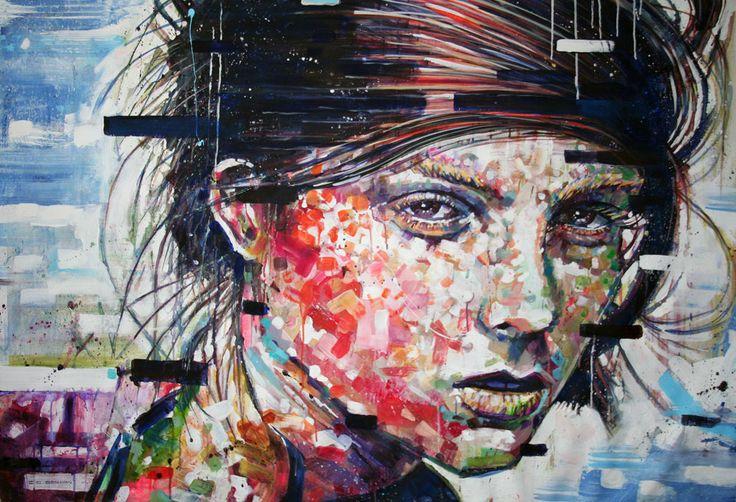 'Mandy' oil on canvas by Chris Denovan