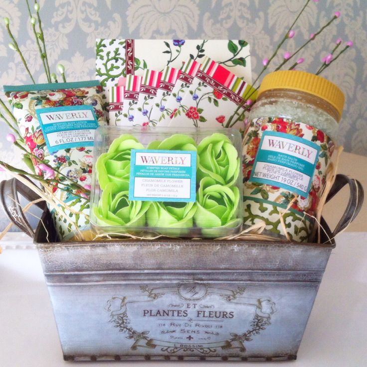 38 best easter baskets with a spa twist images on pinterest easter weathered metal tin with bath petals and bath confetti easter basketsgift negle Image collections