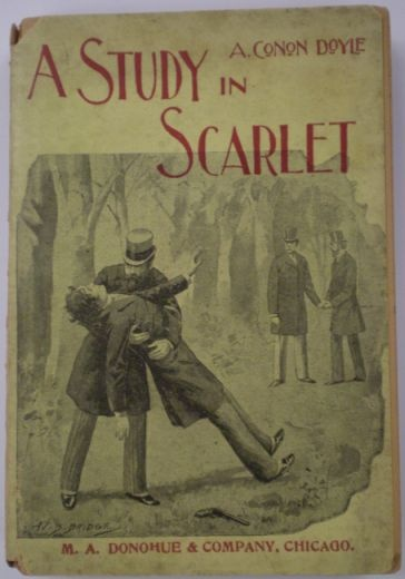 Tan's book 11: a book more than 100 years old.  A Study in Scarlet by Arthur Conan Doyle