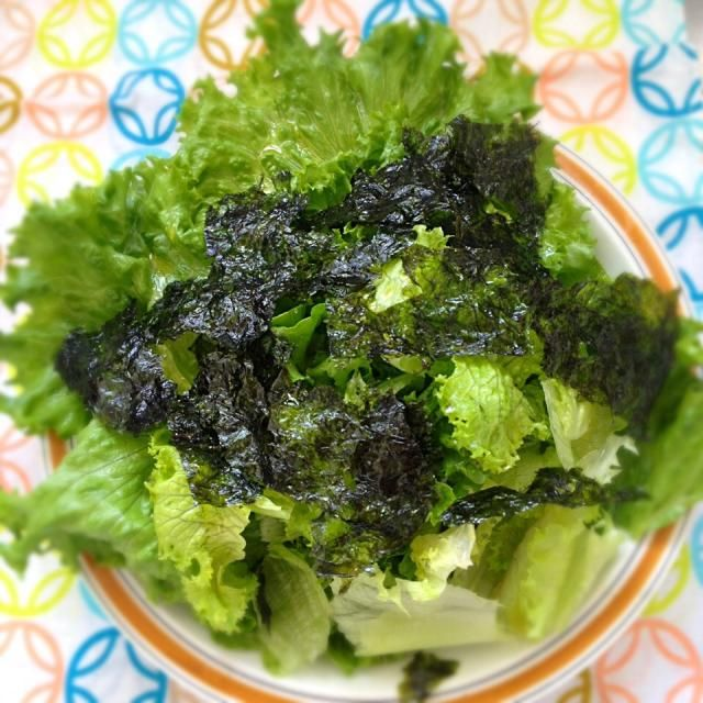 初つくフォトはミキさんの真似っこです(^o^)ありがとうございます! ごま油と韓国のりでやってみました。 おっ、おいしいい✨海苔の助けで、レタス一個があっちゅー間に胃の中へ( ^o^)☆彡 - 81件のもぐもぐ - Miki Sanoさんの料理 簡単!レタス1個まん丸美味しく食べちゃえます絞りレタスの和風サラダもみ海苔が合う!野菜室の残念なレタスを見ないレシピつき! by exmt1or8