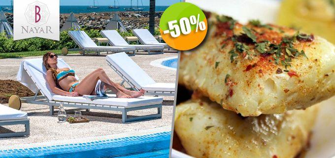 B Nayar en La Cruz de Huanacaxtle - $199 en lugar de $4o0 por 1 Pase de Día + 1 Filete de Pescado al Ajillo + 1 Agua Fresca del Día + Uso de Kayak Click http://cupocity.com/