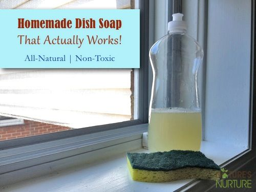 Homemade Natural Dish Soap That Actually Works! - Nature's Nurture