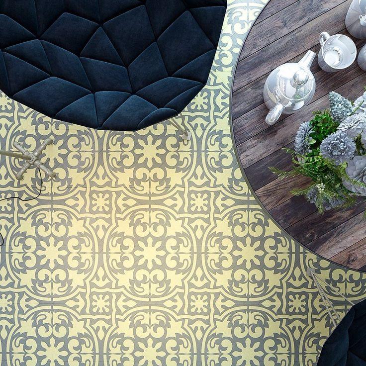 Tile Stencil - Floor Stencil - Stencil - Furniture Stencil -Floor & Wall Decor Stencil- Reusable Stencil for DIY decor - Floor Decor Stencil