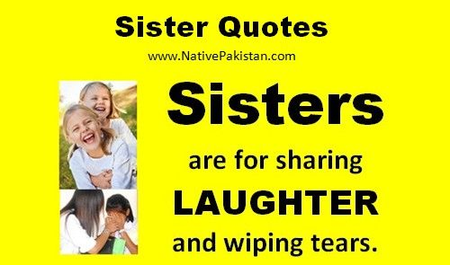 Quotes about Sisters : Sisters are for sharing Laughter - Sayings about Sister