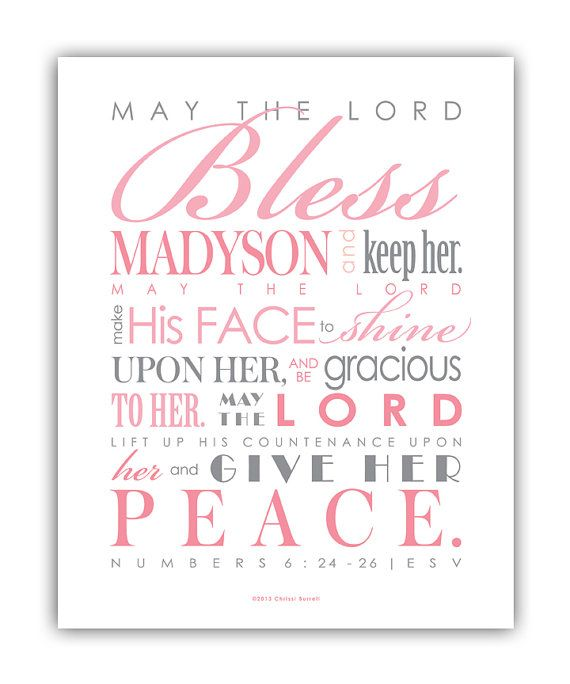 Baptism Gift for girls / First Communion Gift  by ScriptureWallArt, $14.00