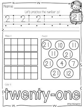 Fun and engaging way to practice writing and identifying numbers 1-50!