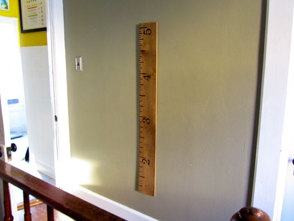 How To Build a Giant Ruler Height Chart