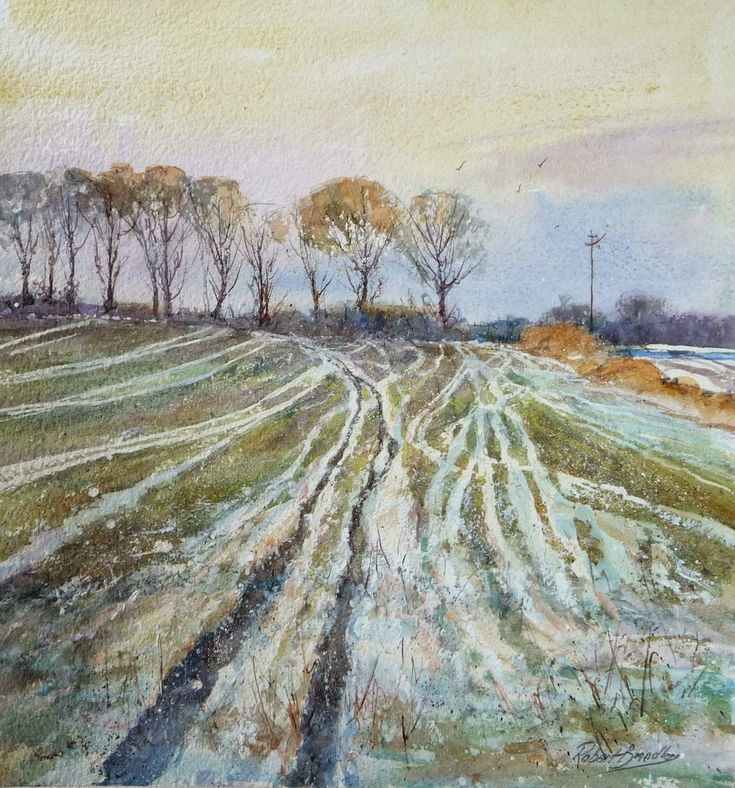 Robert Brindley's Blog: Tracks In The Snow / Aislaby - Step by Step Demonstration - January 2015