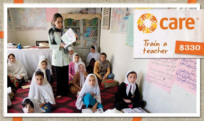 Training a teacher helps provide an education and mentorship to countless children for years to come. Trained teachers equip future generations while earning a steady income to help provide for their own families.