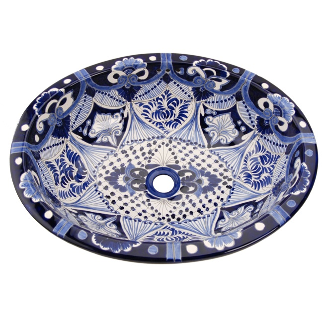 Gorgeous And Amazing Mexican Talavera Accents Vessel Sink Designs