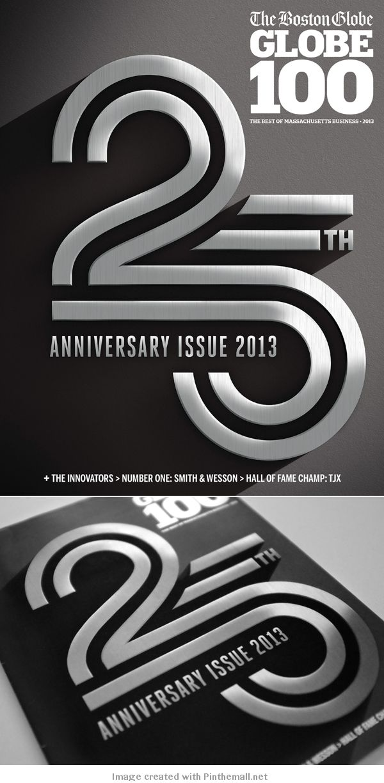 Boston Globe's Globe 100 - 25th Anniversary Cover Art Director: Jane M Martin - #design #poster #typography