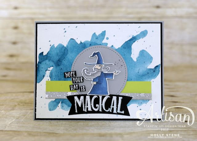 Magical Day from @stampinup - featuring Brusho and watercoloring. Perfect for the magic loving kid or adult! #magicalday #stampinup #mythsandmagic