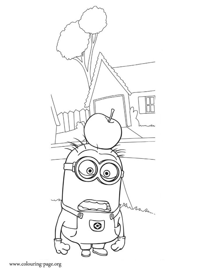 It Seems That An Apple Fell On Tom Head Enjoy This Free Minions Coloring Page And Have Fun