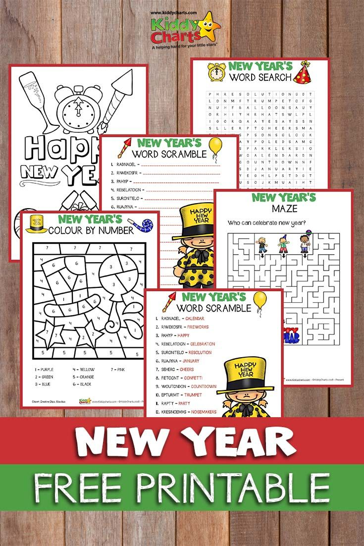 come to the site and download 5 fabulous free new year activities for the kids newyear printables kidsactivities
