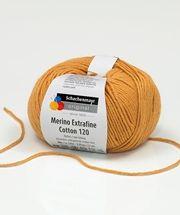 A Merino Extrafine Cotton 120 egyesíti a puha, meleg merinó gyapjút a kényelmes viseletet biztosító, könnyen kezelhető pamuttal. Ez a tavaszi/nyári gyapjú újdonság 20 különböző színben rendelhető. Nagyon jól köthető, formatartó és könnyen kezelhető.