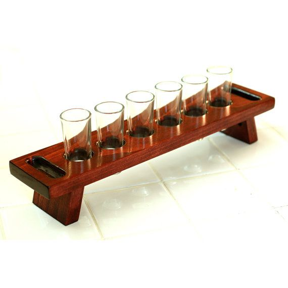 wooden whisky glass holder 1