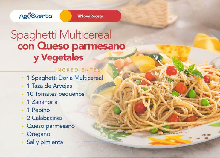 ¡La pasta hace más ricos tus momentos! 😍 ¿Se te antojan estos Spaghetti Multicereal Pastas Doria? Es muy fácil >>>> 1. Cocina los Spaghetti Doria 🍝 de 12 a 15 minutos en abundante agua hirviendo (1 litro de agua mezclado con una cucharadita de sal por cada 100 gr de pasta), pásalas por agua fría y escurre bien. 2.Corta los calabacines, el tomate, el pepino y la zanahoria en cuartos. 3.Mezcla los Spaghetti con las arvejas, el orégano y el queso parmesano. 4. Sirve con la ensalada 🥗 y…