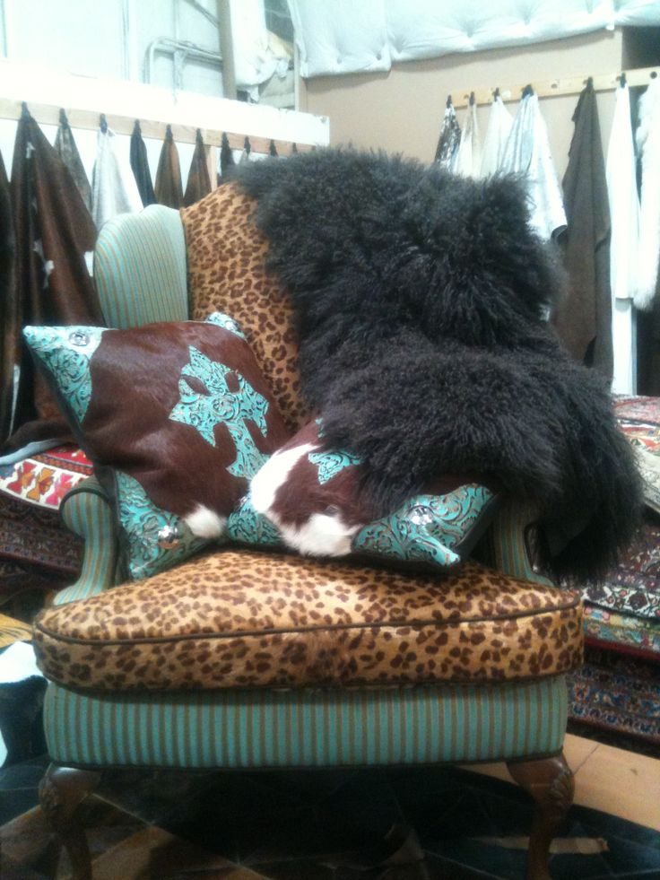 leopard, cowhide, and turquoise perfect