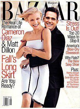 Cameron Diaz and Matt Dillon - Harpers Bazaar Magazine [United States] (August 1998)