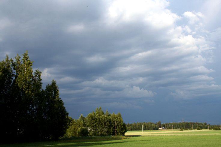 Clouds in Nukari (Nurmijärvi), Finland