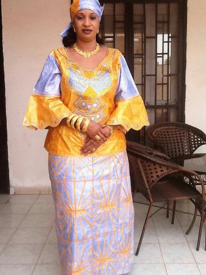 Embroidered Bazin Malian Fashion Bazin African Attire