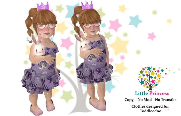https://flic.kr/p/CCbyJZ | Flowered dress - Little Princess | marketplace.secondlife.com/p/Dress-heart-By-Little-Prince...