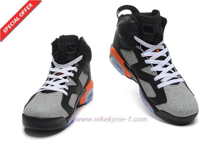 Discount Shoes Online AIR JORDAN 6 RETRO 309387-068 Orange/Grey/Black Dog Lines