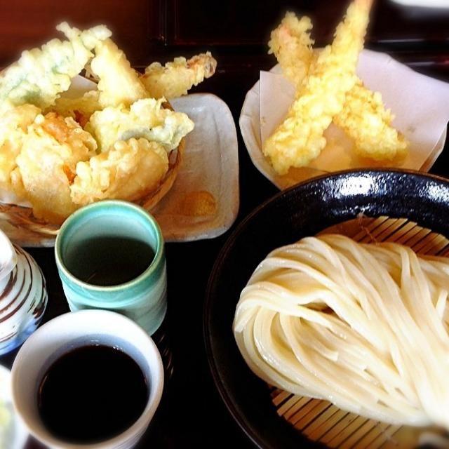 あくびちゃん、nakkoちゃんとミニランチオフ会。美味しい - 158件のもぐもぐ - 冷やしうどん野菜天ぷら添え by madammay