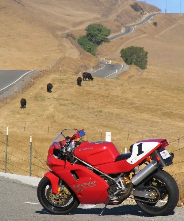 Ducati 888. California is always a great place to ride.