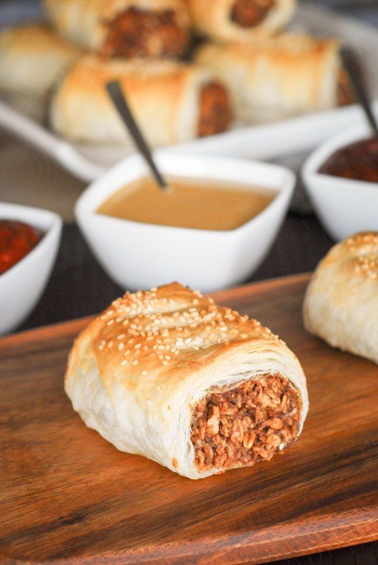 Vegan Sausage Rolls   Organize your favourite recipes on your iPhone or iPad with @RecipeTin! Find out more here: www.recipetinapp.com #recipes #vegan