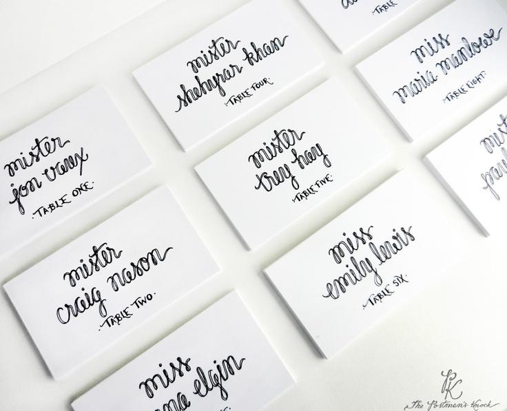 Wedding Name Place Cards Escort Cards Custom Calligraphy. $0.85, via Etsy.