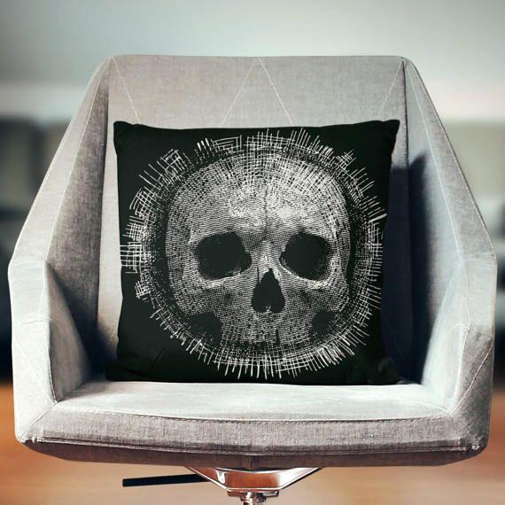 Skull Decor Skull Pillow Skull Pillowcase Skull