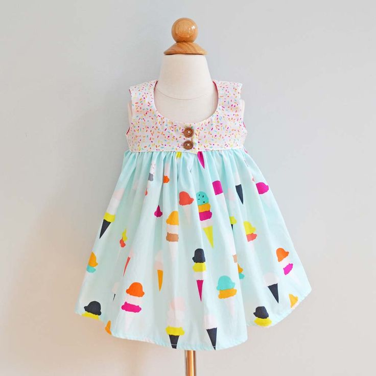 Ruffle Dress, Baby Girl Dress, Girls Summer Dress, Dress for baby girl, Toddler Girl Dress, Girls Ice Cream Party Dress / Flavor of the Day by TwoLittleBeansCo on Etsy https://www.etsy.com/listing/466469999/ruffle-dress-baby-girl-dress-girls