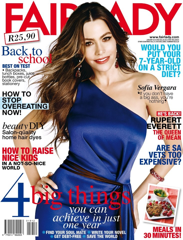 Check out our January 2013 issue with our gorgeous cover star, Sofia Vergara. #Fairlady #Magazine