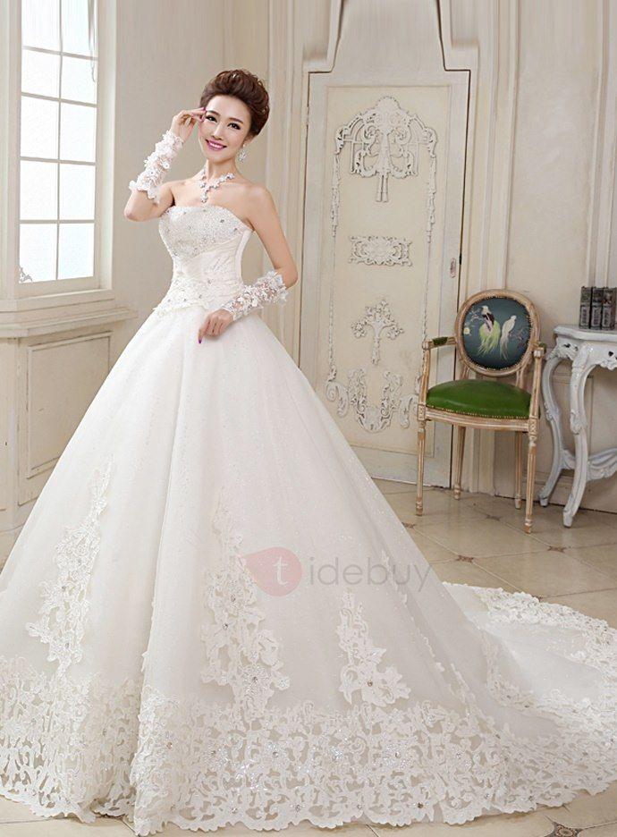 ... Linie BrautkleidWir haben mehr Arten fürTrägerlose Hochzeitskleider