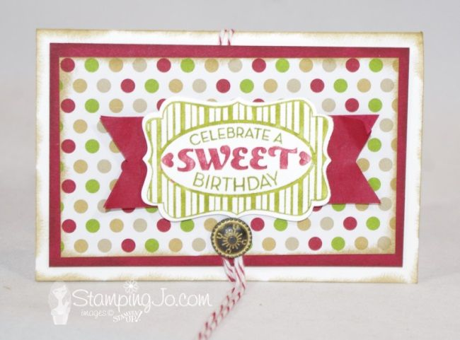 VIDEO TUTORIAL: This gift holder starts out with a regular medium sized envelope and can be used to hold anything small- gift cards, tea bags or small CHOCOLATES!!! Yum! http://stampingjo.com/stampin-girls-gone-wild/birthday-or-christmas-you-choose