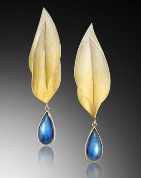 MJSA, the U.S. trade association for jewelry makers, has announced the winners of its 2013 Vision Awards, honoring creativity and technical excellence in jewelry making and design. Pictured: Hand-fabricated Spectra earrings by Adam Neeley.