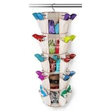 NEW Closet Carousel Round Hanging Pockets of Wardrobe Storage Shoes Bags