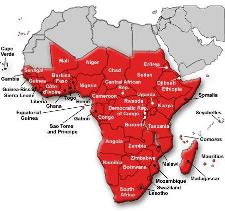 Map of sub saharan africa world map 07 gumiabroncs Gallery