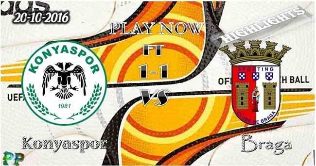 Konyaspor 1 - 1 Braga 20.10.2016 HIGHLIGHTS - PPsoccer